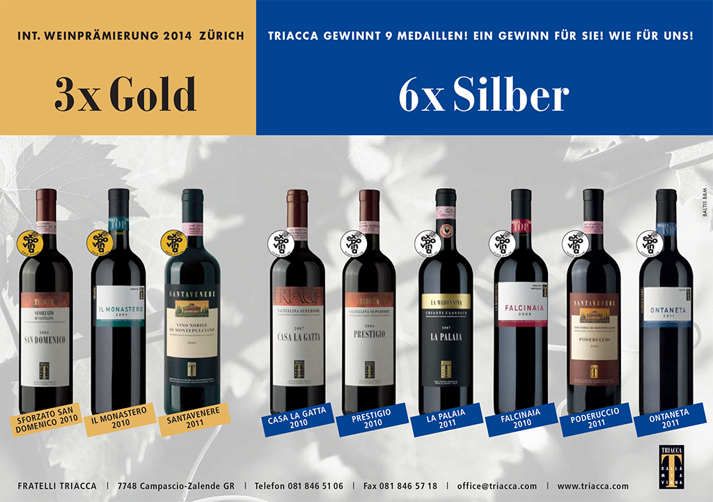 3xGold-6xSilber-A5 Triacca2014